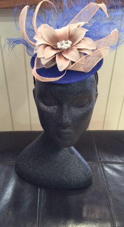Blue and Cream Fascinator